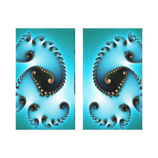 Los gemelos azules envolvieron la lona impresiones en lona