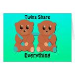 Los gemelos comparten todo felicitaciones