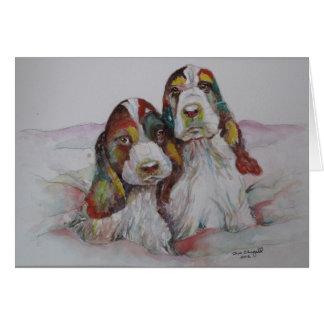 Los gemelos del arco iris tarjeta pequeña