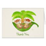 Los gemelos del mono le agradecen Notecard