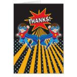 Los gemelos del super héroe el   le agradecen card felicitación