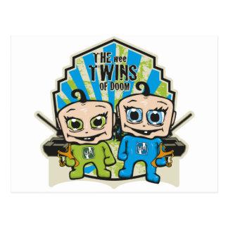 Los gemelos del Wee Tarjeta Postal