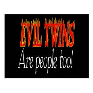 ¡Los gemelos malvados son gente también! Tarjeta Postal