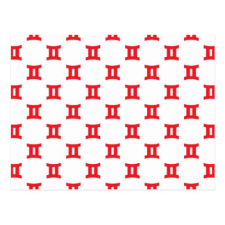 Los géminis modelan rojo postales