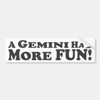 ¡Los géminis se divertían más! - Pegatina para el  Etiqueta De Parachoque
