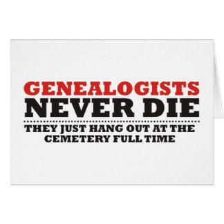 Los Genealogists nunca mueren Tarjeta