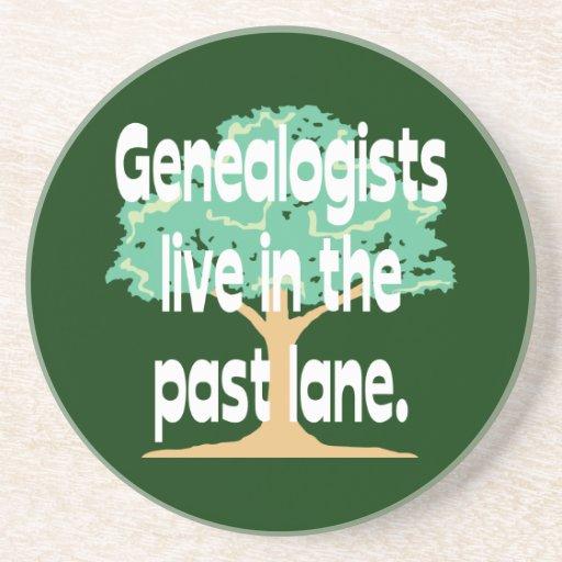 Los Genealogists viven en el último carril Posavasos Diseño