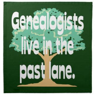 Los Genealogists viven en el último carril Servilletas Imprimidas