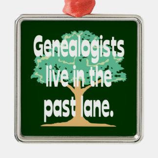 Los Genealogists viven en el último ornamento del Adornos De Navidad