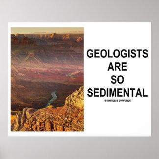 Los geólogos son tan sedimentarios el Gran Cañón Poster