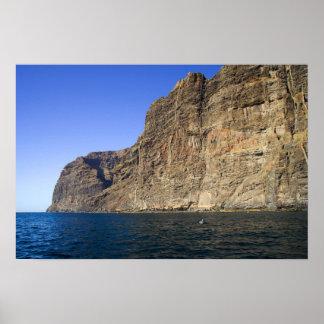 Los Gigantes Cliffs in Tenerife Poster