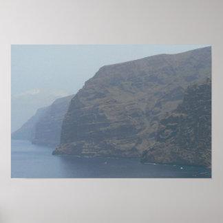 Los Gigantes Mountains Spain Coast Print