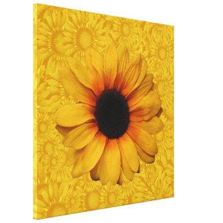 Los girasoles amarillos hermosos envolvieron la lo impresiones de lienzo