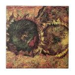 Los girasoles cortados de Van Gogh dos, vintage Teja