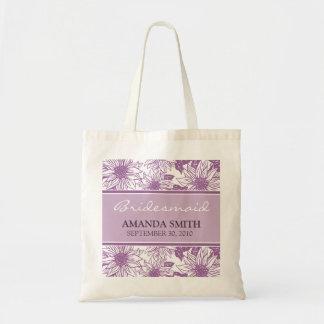Los girasoles de la lila personalizaron el bolso d bolsas de mano
