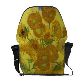 Los girasoles de Van Gogh Bolsas De Mensajería