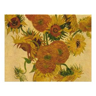 Los girasoles de Vincent van Gogh, 1878 Tarjetón