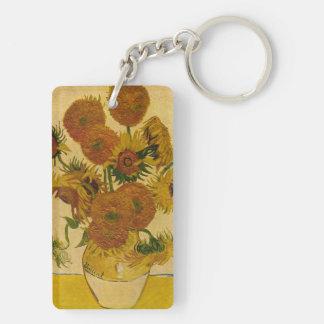 Los girasoles de Vincent van Gogh 1878 Llavero