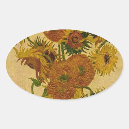 Los girasoles de Vincent van Gogh, 1878 Etiqueta
