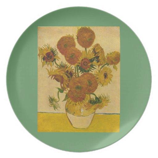 Los girasoles de Vincent van Gogh, 1878 Plato