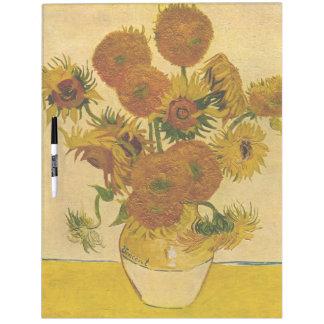 Los girasoles de Vincent van Gogh, 1878 Tablero Blanco