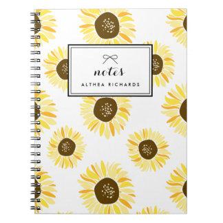 Los girasoles modelan el cuaderno personalizado