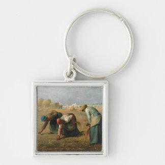 Los Gleaners, 1857 Llavero Cuadrado Plateado