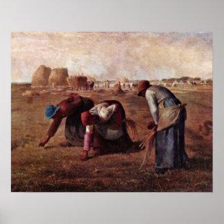 Los Gleaners por el mijo de Jean-Francois Póster