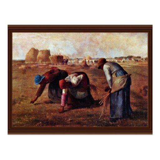 Los Gleaners por el mijo (la mejor calidad) Tarjetas Postales
