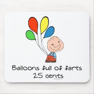 Los globos de farts por completo humor alfombrillas de ratones