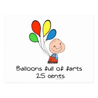 Los globos de farts por completo tarjeta postal