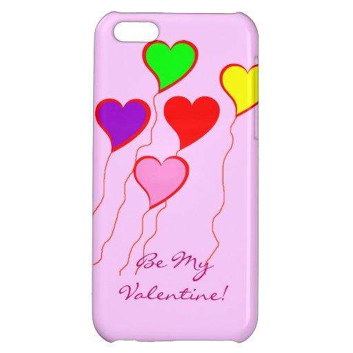 ¡Los globos del corazón, sean mi tarjeta del día d