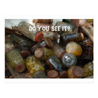 ¿Los globos del ojo conservados usted lo ve? Postal