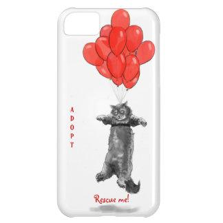 Los globos rojos me rescatan caso del iPhone Funda Para iPhone 5C