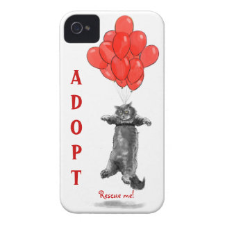 Los globos rojos me rescatan caso del iPhone iPhone 4 Fundas