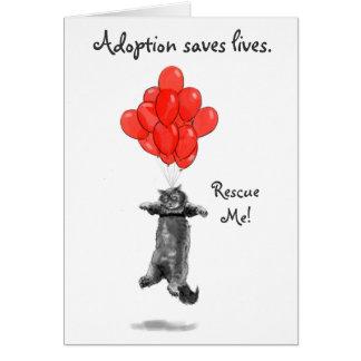 Los globos rojos me rescatan Notecards Tarjeta Pequeña