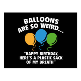 Los globos son tan extraños tarjeta postal