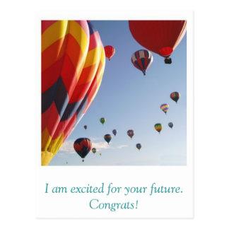 los globos, soy emocionado para su futuro. tarjetas postales