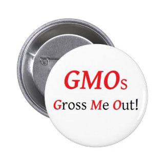 Los GMOs me ganan en total hacia fuera abotonan Pin Redondo De 2 Pulgadas