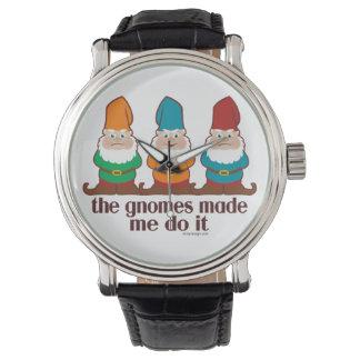 Los gnomos hicieron que lo hace relojes de pulsera
