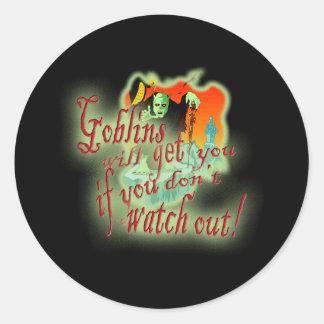 Los Goblins le conseguirán si usted no tiene Pegatina Redonda