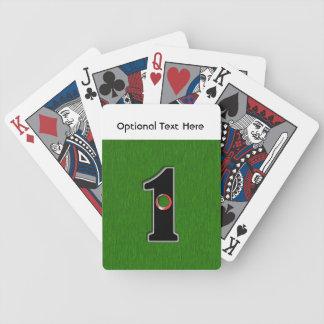 Los golfistas agujerean en uno. ¿Suerte o Baraja Cartas De Poker