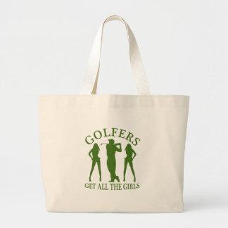 Los golfistas consiguen a todos los chicas bolsa tela grande