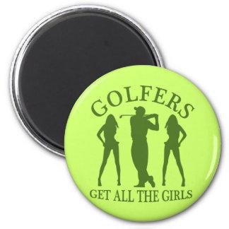 Los golfistas consiguen a todos los chicas imán redondo 5 cm