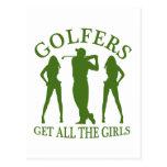 Los golfistas consiguen a todos los chicas tarjetas postales