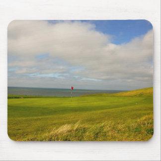 Los golfistas duran verde tapete de ratones