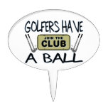 Los golfistas tienen una bola decoración para tarta