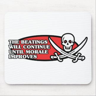 Los golpeos continuarán hasta que la moral mejore alfombrillas de ratón