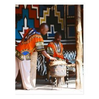 Los golpes del tambor de África Tarjetas Postales