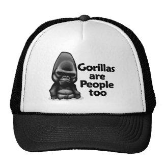 Los gorilas son gente también gorras de camionero